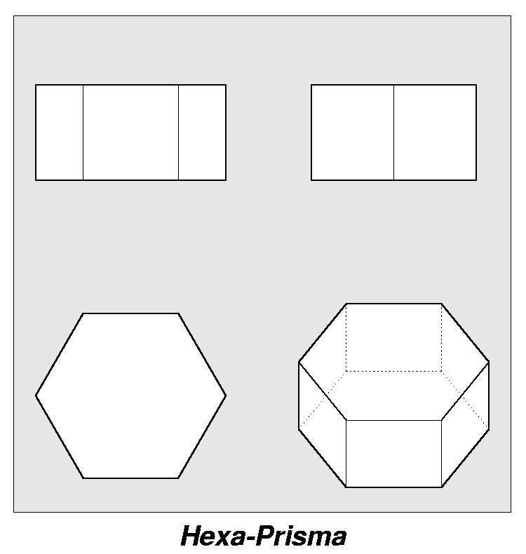 archimedesche k rper ansicht hexa prisma. Black Bedroom Furniture Sets. Home Design Ideas