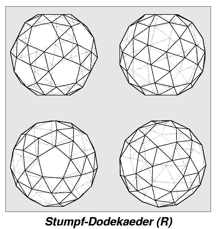 Archimedesche Körper / Ansicht / Stumpf-Dodekaeder